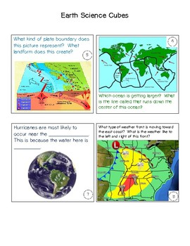Cubes- Earth Science- STAAR review game