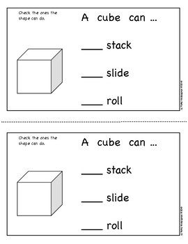 Cubes Emergent Reader