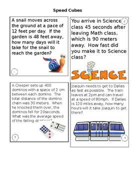 Cubes- Speed - 8th Grade STAAR review game