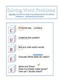 Cubes Word Problems Strategy for Interactive Notebook