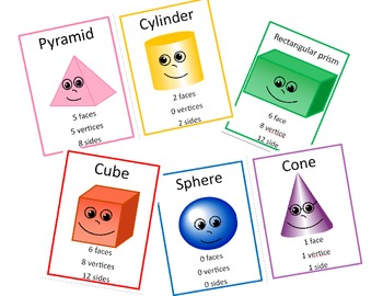 Cubes and Solid Shapes Posters and Activity