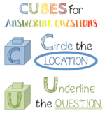 Cubes for Answering Questions ELA!!