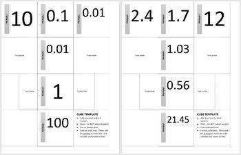 Cubes for Practicing Decimal Multiplication