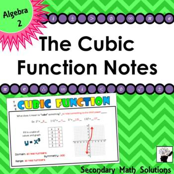 Cubic Function Foldable Notes (2A.2A, 2A.6A)
