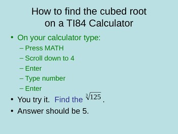 Cubic Roots PPT Notes