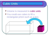 Cubic Volume Powerpoint for Intermediate Grades
