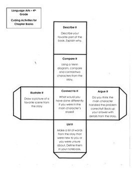 Cubing Activities for Chapter Books