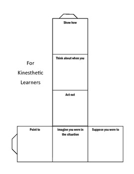 Cubing Activity for Differentiated Instruction (Human Body Example Cubes Given)