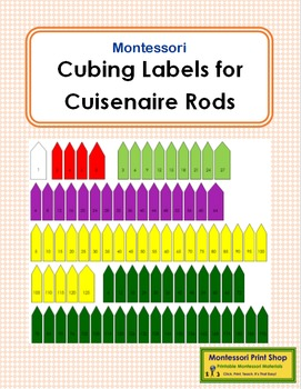 Cubing Labels for Cuisenaire Rods