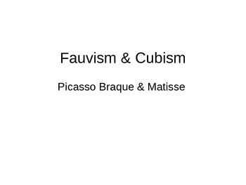 Cubism & Fauvism