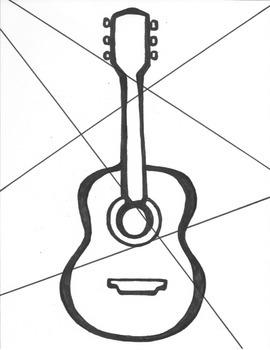 Cubism Inspired Guitar