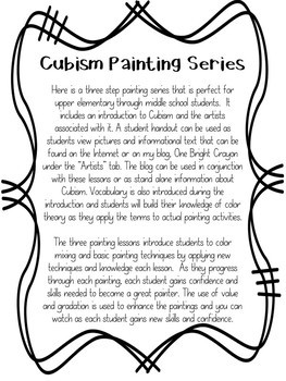 Cubism Paintings - Value Painting Lesson