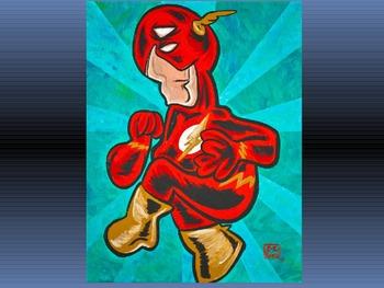 Cubism Superhero Inspiration PPT