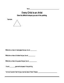 Cubism and Pablo Picasso Art Assessment