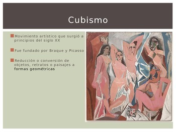 Cubismo y Picasso PowerPoint