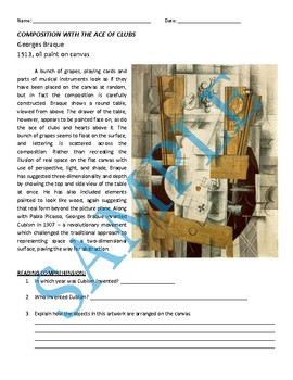 Cubist Reading: Georges Braque Composition with the Ace of Clubs