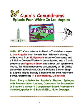 Cuca's Conundrums  Episode Four: Widow In Los Angeles,1926