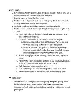 Cucharas (Realidades 1 - 6A)