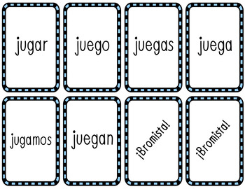 Cucharas Spoons Game Bundle (Spanish Verb Conjugation)