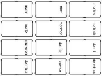 ¡Cucharas! Spoons Game for Irregular Preterite ER/IR Stem-changer Verbs