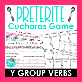 ¡Cucharas! Spoons Game for Irregular Preterite I->Y Group Verbs