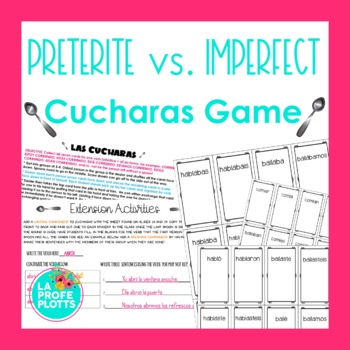 ¡Cucharas! Spoons Game for Preterite vs. Imperfect