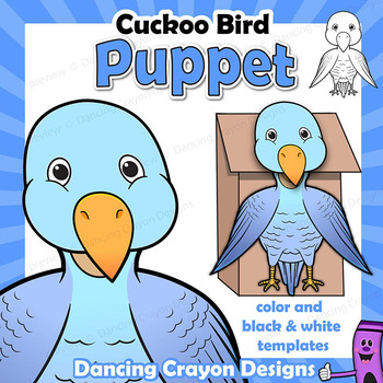 Cuckoo Bird Craft Activity | Paper Bag Puppet Template
