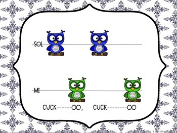 Cuckoo: Kindergarten and 1st grade solo singing song for sol-mi and ta-titi