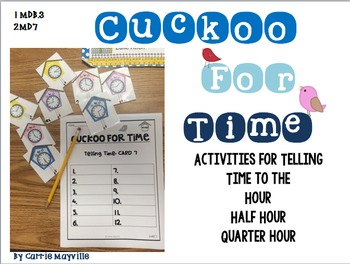 Telling Time Task Cards & Activities