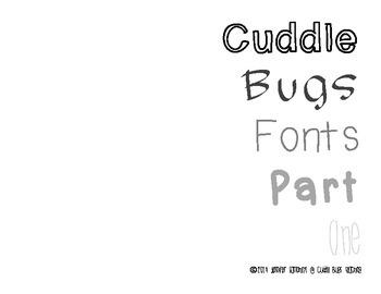 Cuddle Bugs Font Part 1
