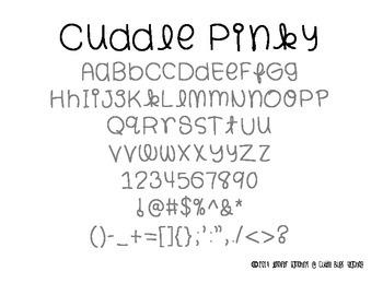 Cuddle Bugs Font Part 2