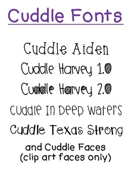 Cuddle Fonts - Hurricane Harvey