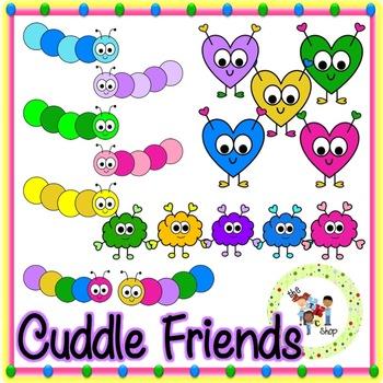Cuddle Friends Clip Art