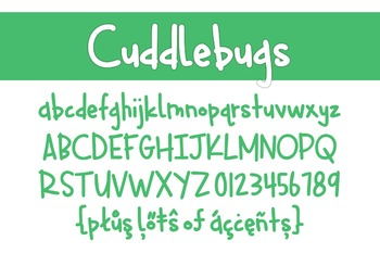 Cuddlebugs Font for Commercial Use