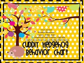 Cuddly Hedgehog Behavior Chart