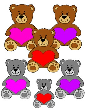 Cuddly Valentine Bears