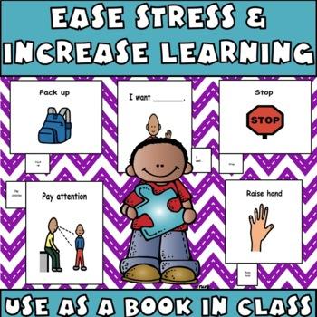 Cue Cards (large) set 1: Visual Behavior Tool Book (Autism & Aspergers)