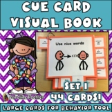 Cue Cards (large) set 1: Visual Behavior Tool Book for Autism & Aspergers