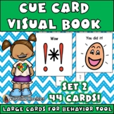 Cue Cards (large) set 2: Visual Behavior Tool Book for Autism & Aspergers