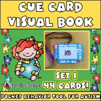 Cue Cards set 1 (small):Visual Behavior Necklace Book (Autism, Aspergers)