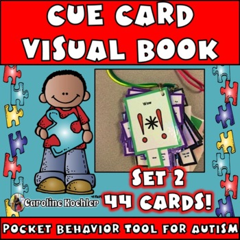 Cue Cards set 2 (small):Visual Behavior Necklace Book (Autism, Aspergers)