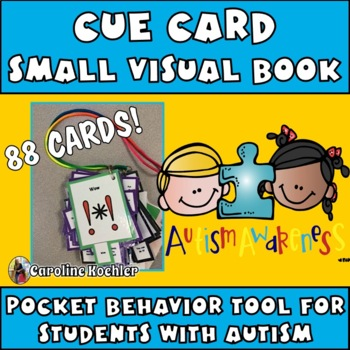 Cue Cards MEGA set (small):Visual Behavior Necklace Book (