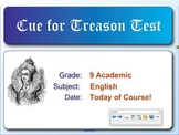 Cue For Treason Chapters 1 to 10 Quiz
