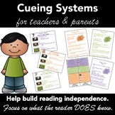 Cueing Systems/Prompts for Teachers to Prompt Readers