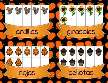 Cuenta Y Escribe *Count & Write the Room* Autumn version in Spanish