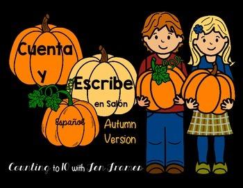 Cuenta Y Escribe *Count & Write the Room* Autumn version i