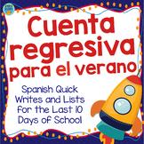 Cuenta regresiva para el verano: End of the Year Writing Prompts In Spanish
