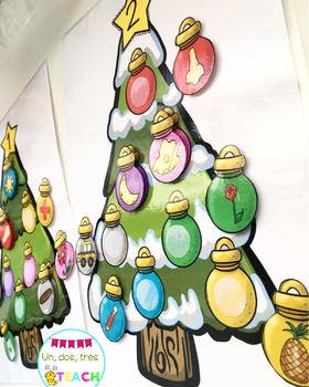 Cuenta sílabas en Navidad (Syllable Counting Spanish)