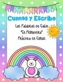 Cuenta y Escribe en Primavera *Spring Write the Room--in Spanish*