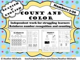Number Recognition Cuenta y colorea 1-20 / Count & Color 1-20 English & Spanish